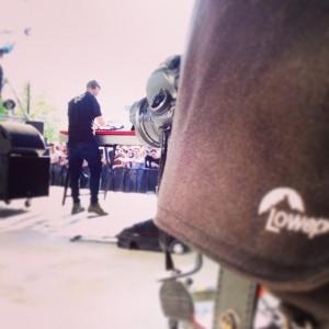 En backstage