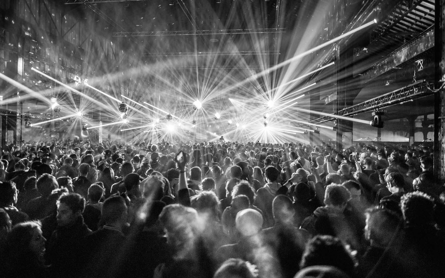 The crowd enjoyed the show at Red Bull Music Academy stage during Nuits sonores festival in Lyon, France on May 15th 2015