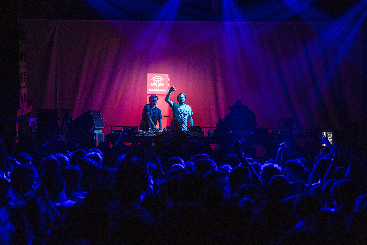 Laurent Garnier and MCDE making the show at Red Bull Music Academy Stage at Nuits Sonores in Lyon, France on May 29th, 2014