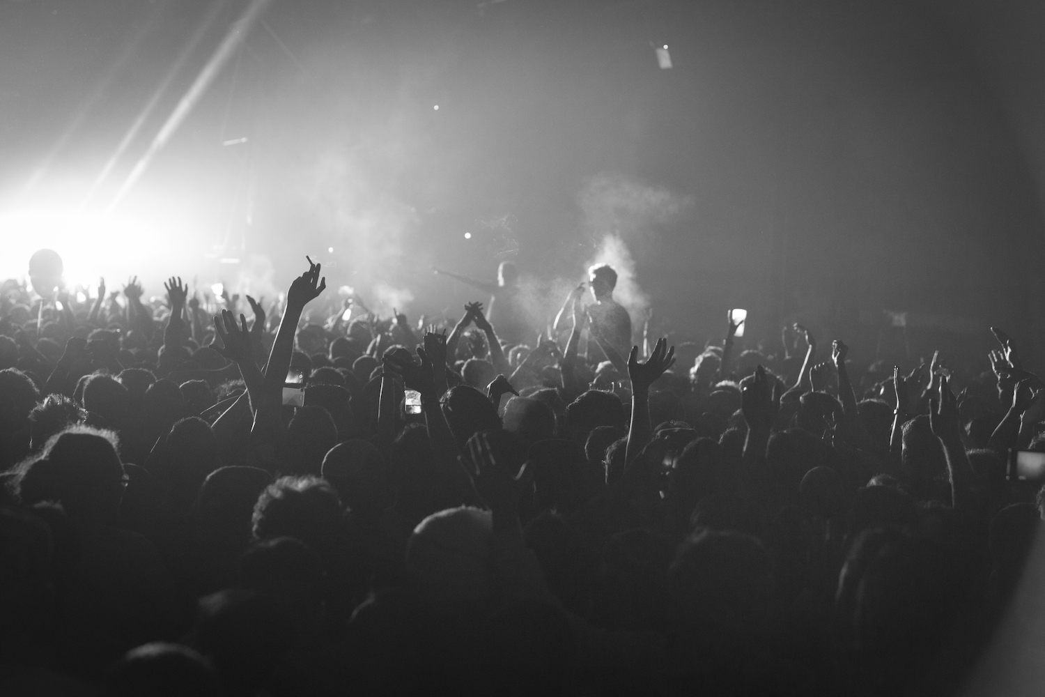 The crowd cheers on RBMA stage at Nuits sonores festival in Lyon, France on May 16th 2015